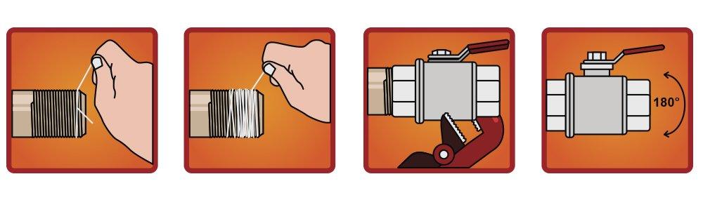 Как наматывать уплотнительную нить (инструкция)